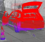 Efficient Removal of Inconsistencies in Large Multi-Scan Point Clouds